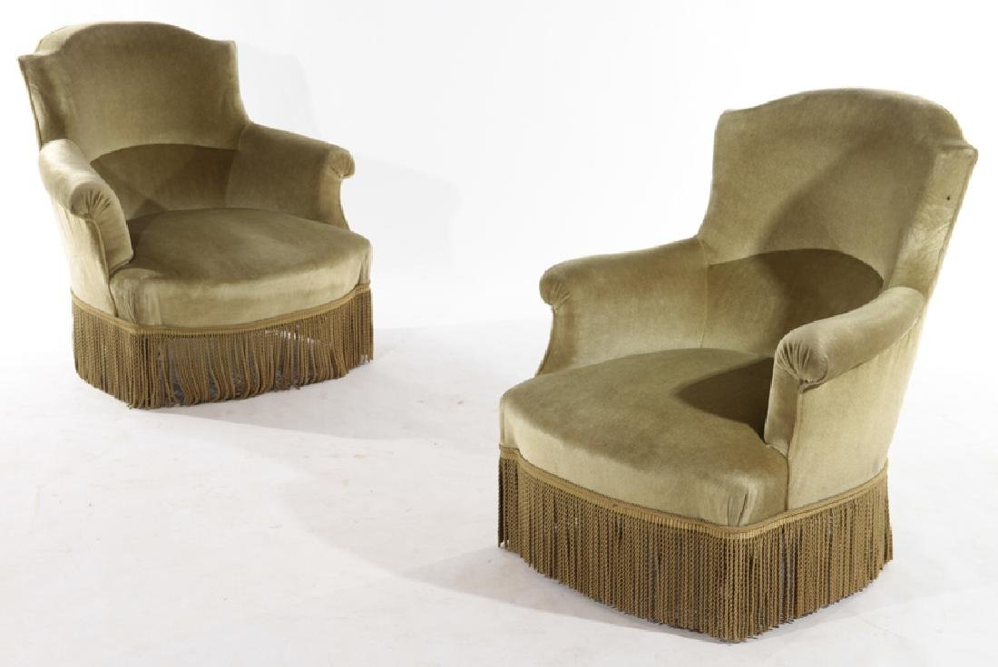 PAIR FRENCH NAPOLEAN III CHAIRS CIRCA 1870
