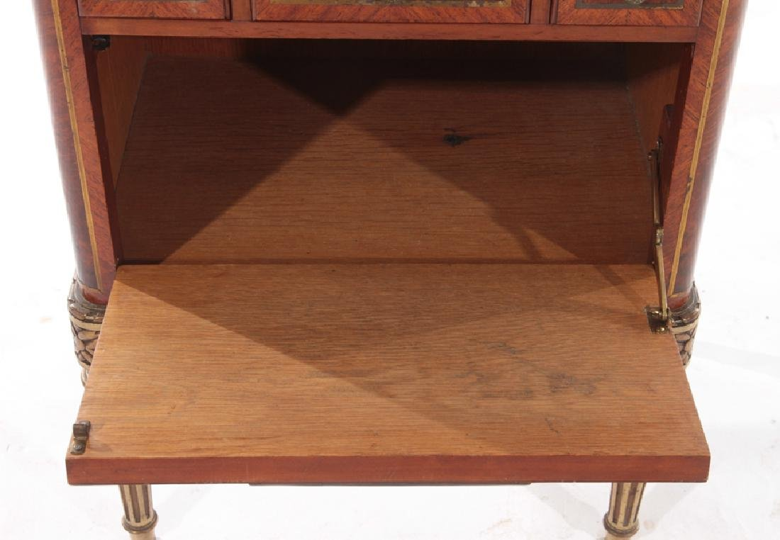 PAIR MAHOGANY MARBLE TOP NIGHT STANDS 1930 - 5