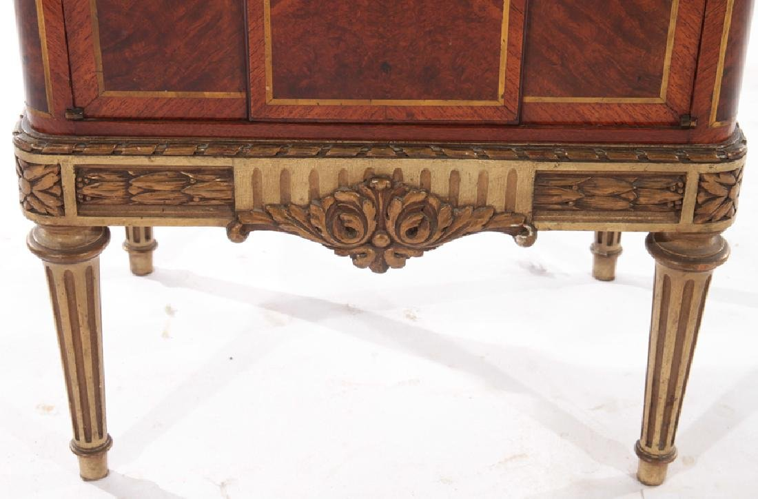 PAIR MAHOGANY MARBLE TOP NIGHT STANDS 1930 - 6