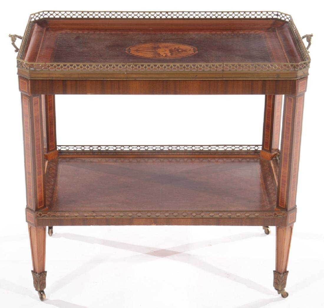 BRONZE MOUNTED INLAID MAHOGANY DRINKS TABLE 1910 - 2