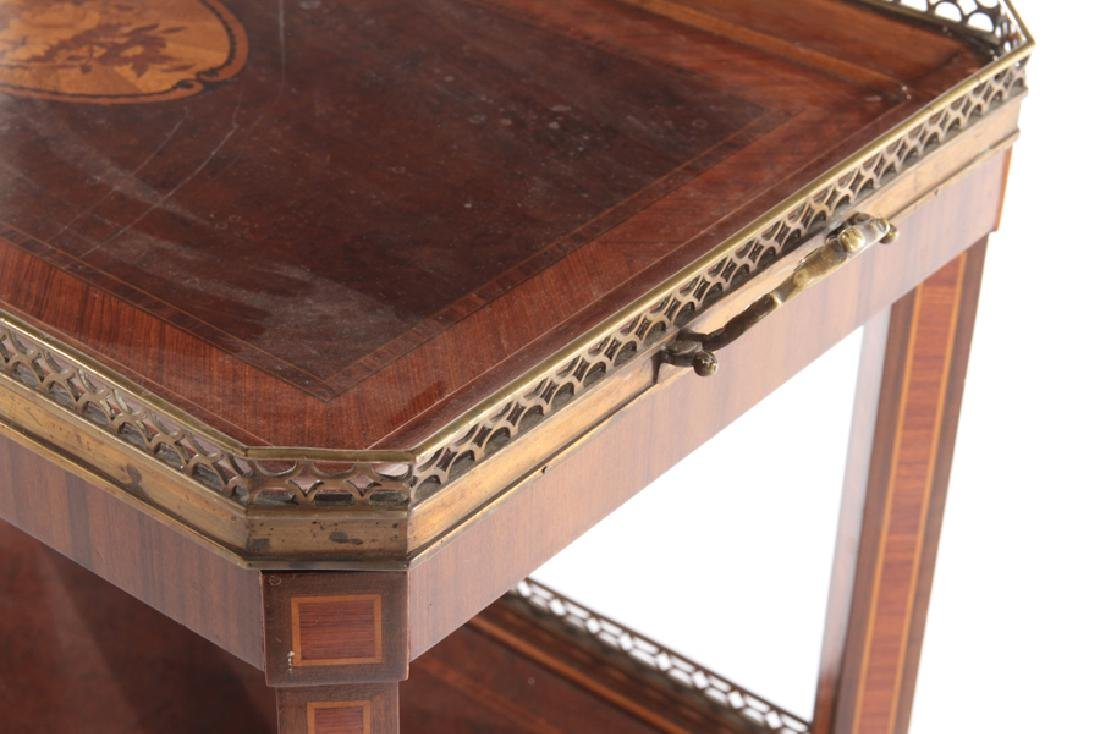 BRONZE MOUNTED INLAID MAHOGANY DRINKS TABLE 1910 - 4