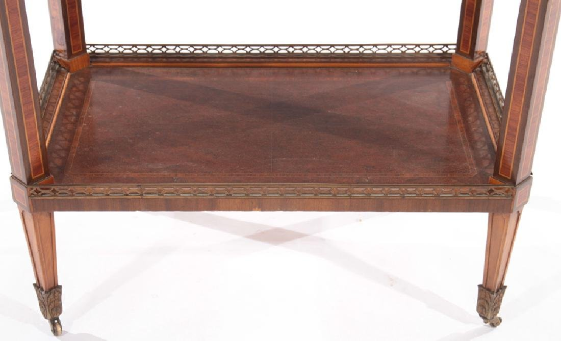 BRONZE MOUNTED INLAID MAHOGANY DRINKS TABLE 1910 - 5