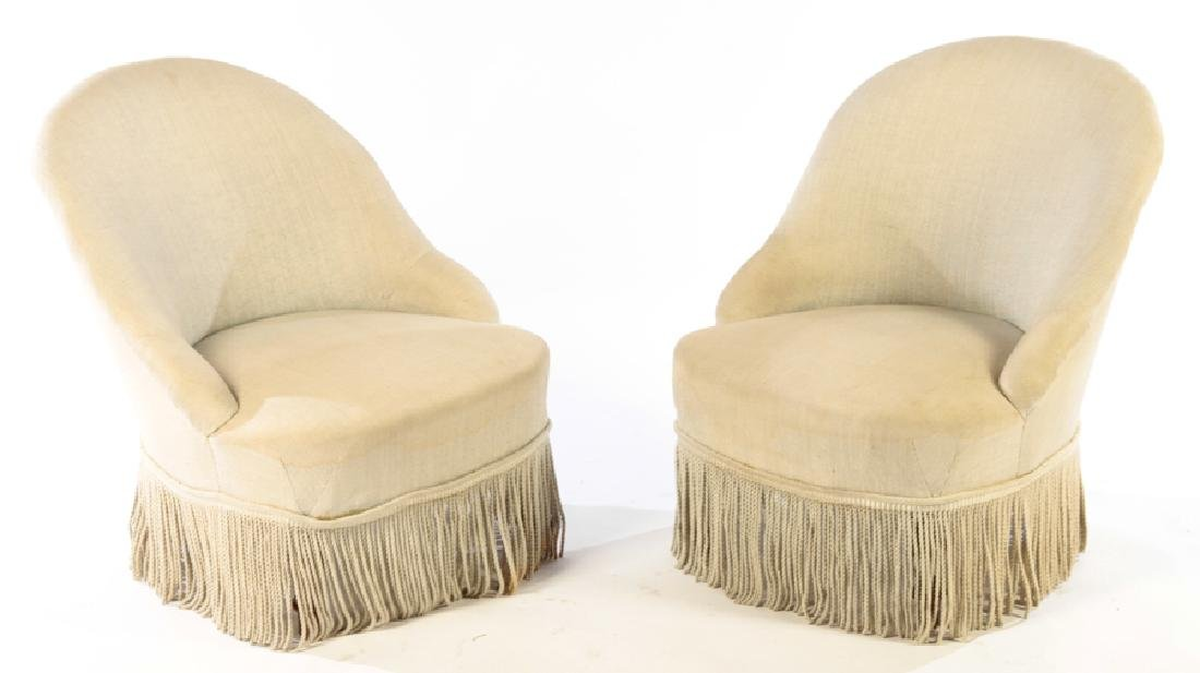 PAIR NAPOLEAN III STYLE SLIPPER CHAIRS C.1880