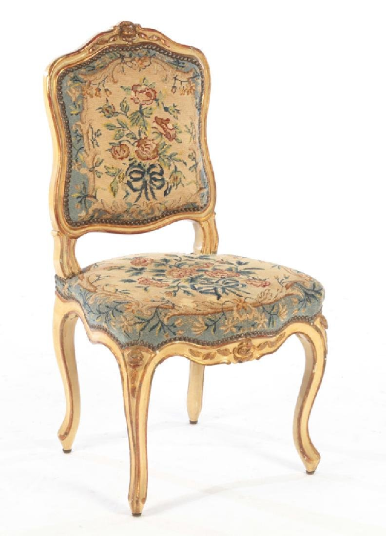 SET 4 19TH CENTURY CARVED LOUIS XV DINING CHAIRS - 2