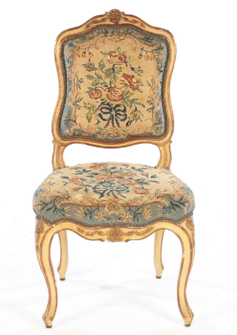 SET 4 19TH CENTURY CARVED LOUIS XV DINING CHAIRS - 3