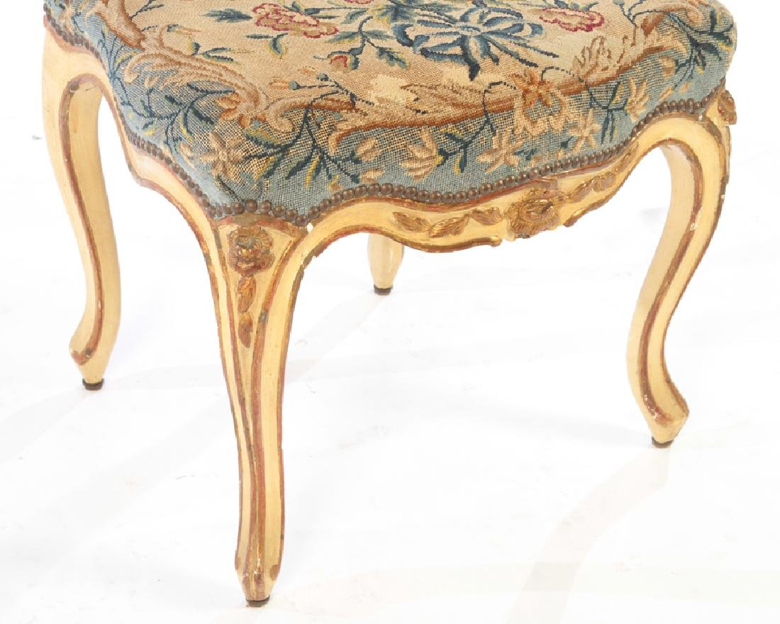 SET 4 19TH CENTURY CARVED LOUIS XV DINING CHAIRS - 5