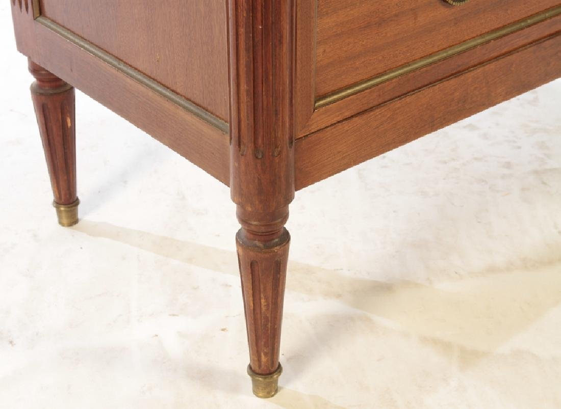 FRENCH MAHOGANY MARBLE TOP 3 DRAWER COMMODE 1950 - 5