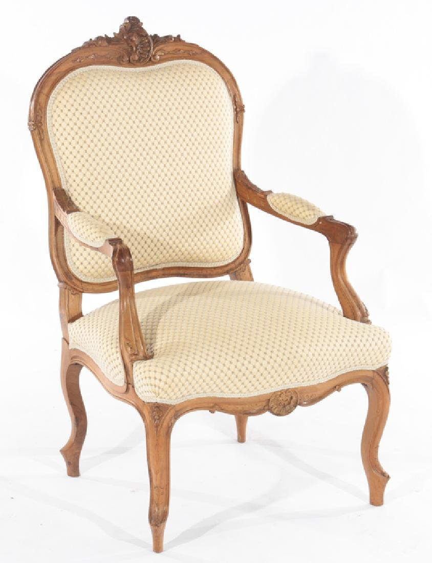 PAIR OF LOUIS XV STYLE FRENCH ARMCHAIRS C.1910 - 2