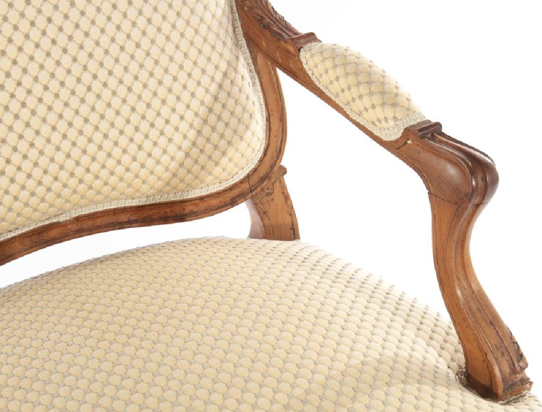 PAIR OF LOUIS XV STYLE FRENCH ARMCHAIRS C.1910 - 5