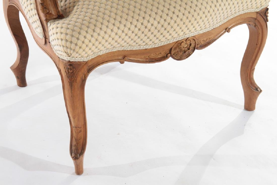 PAIR OF LOUIS XV STYLE FRENCH ARMCHAIRS C.1910 - 6