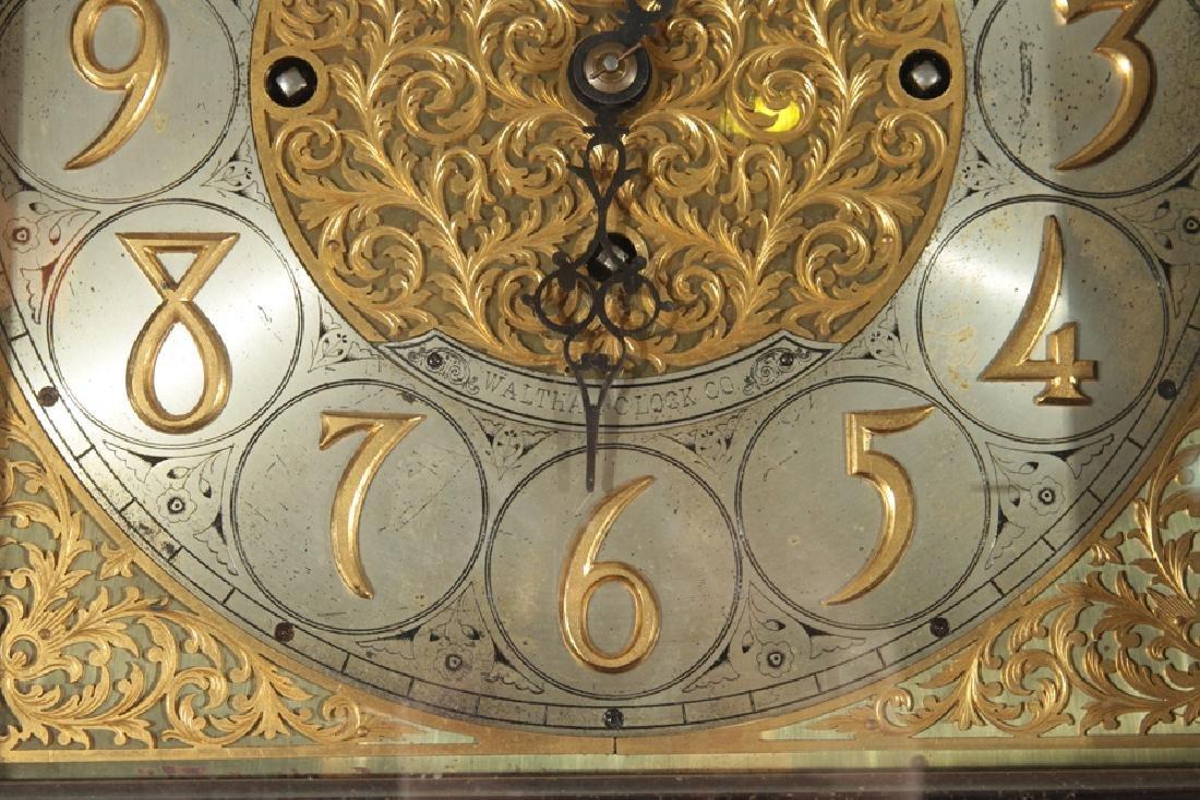 WALTHAM 9 TUBE MAHOGANY TALL CASE CLOCK C.1900 - 3