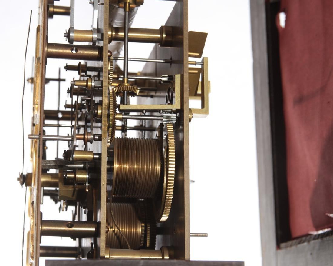 WALTHAM 9 TUBE MAHOGANY TALL CASE CLOCK C.1900 - 5