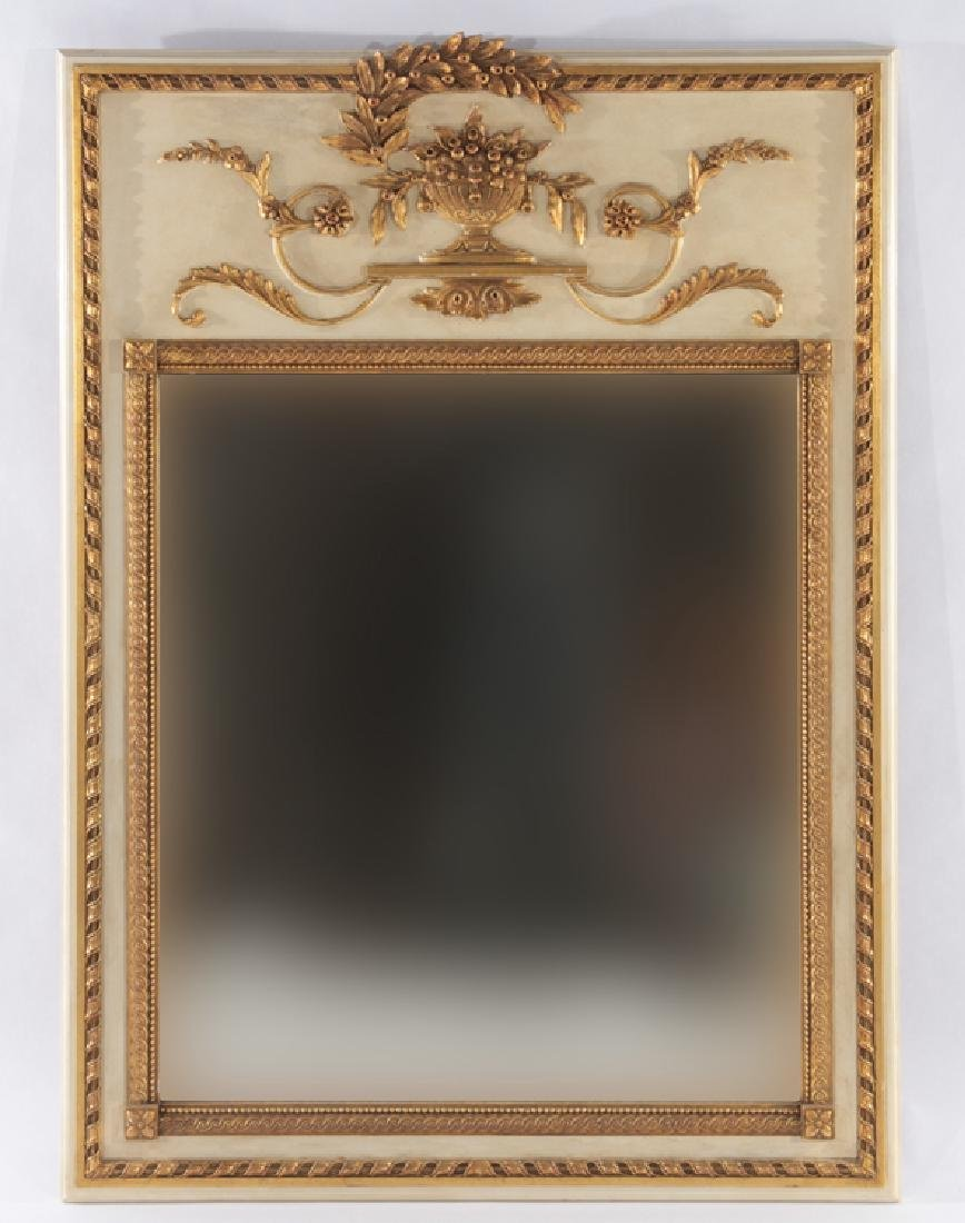 CARVED AND GILTWOOD FRENCH MIRROR NEOCLASSICAL