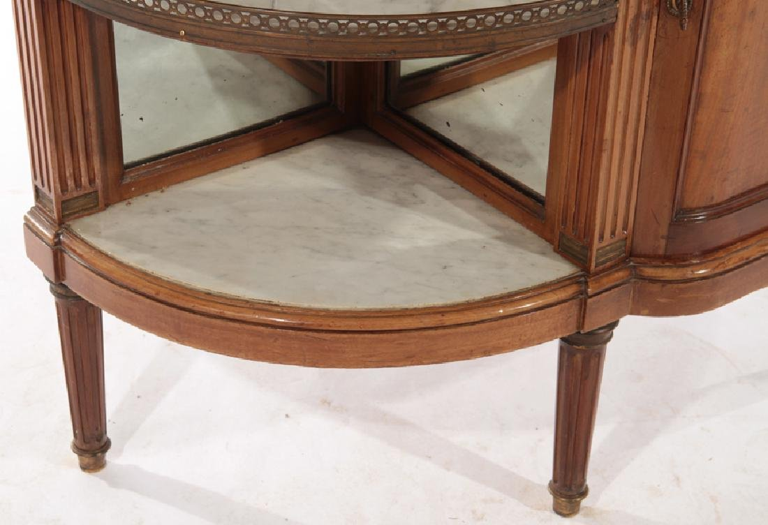 FRENCH MAHOGANY DESSERT SERVER MARBLE TOP 1920 - 6