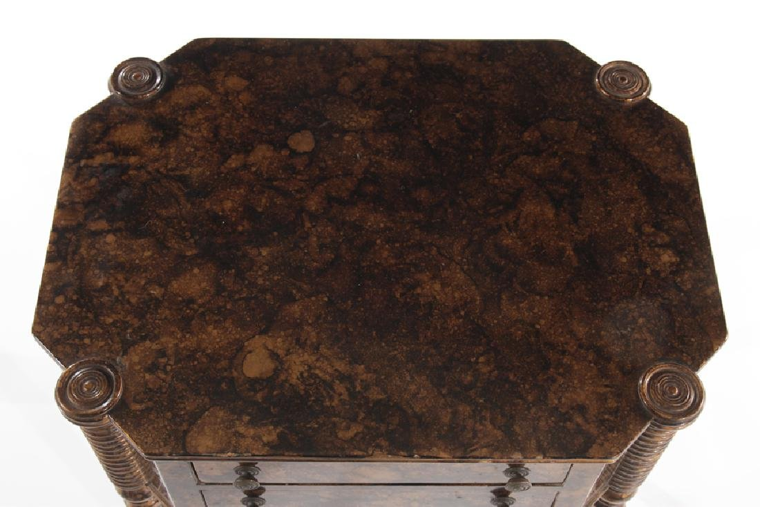 PAIR OF SHERATON STYLE 2 DRAWER STANDS C.1930 - 4