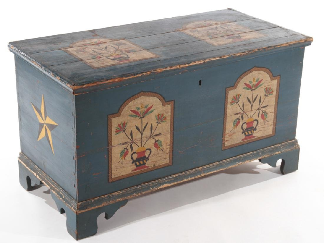 19TH CENTURY LIFT LID BLANKET CHEST - 2