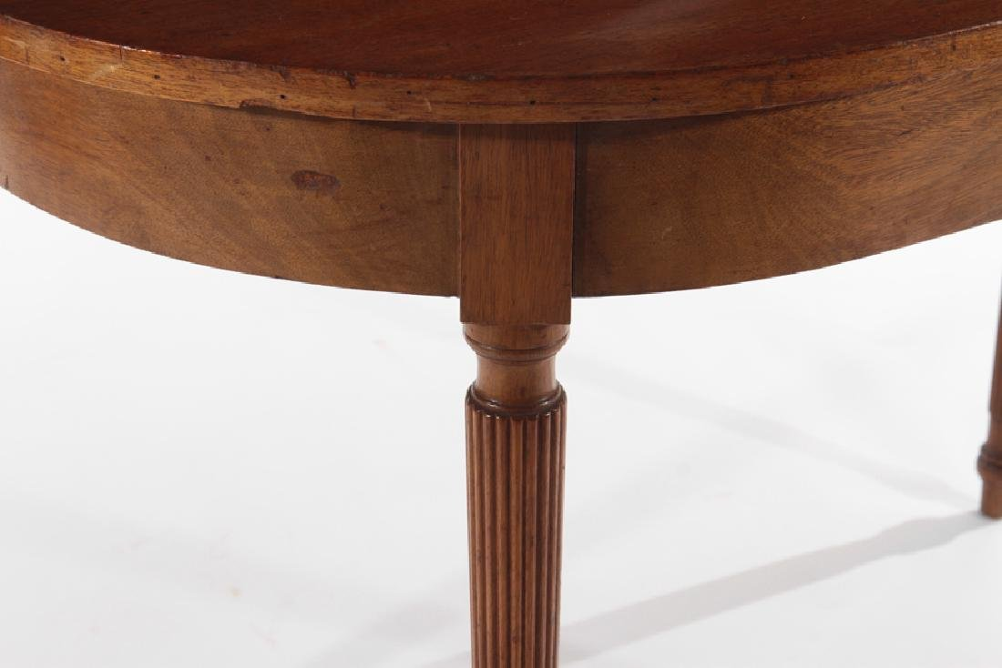 PAIR OF 19TH CENT. MAHOGANY D-FORM CONSOLE TABLES - 5