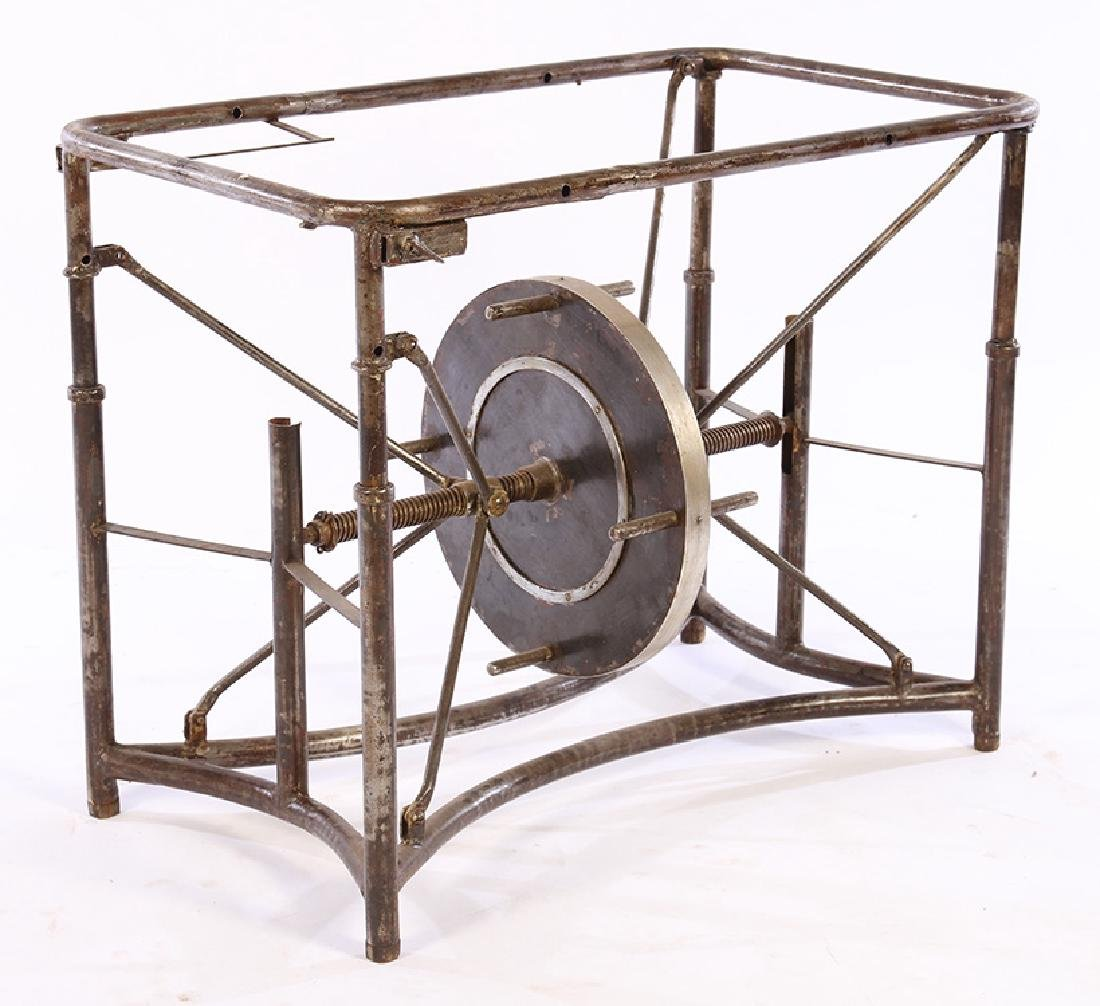 VINTAGE INDUSTRIAL MECHANICAL IRON TABLE BASE