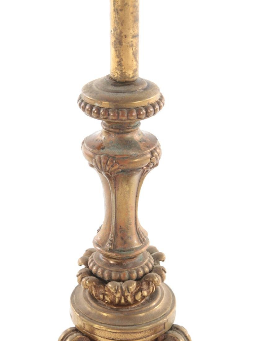 BRONZE FLOOR LAMP C.1910 - 3