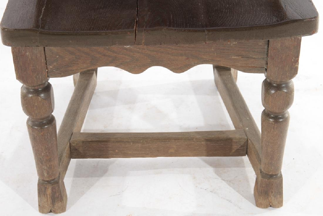 SET OF 4 FANTASY CARVED OAK CHAIRS - 7