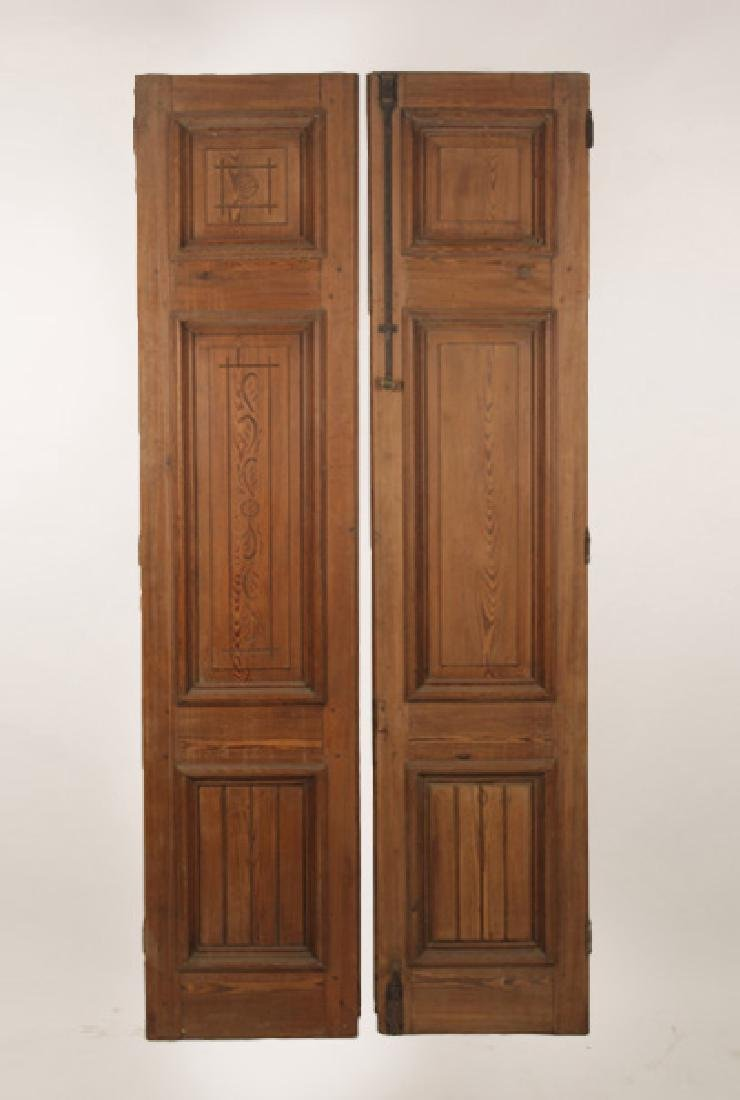 PAIR OF VICTORIAN CARVED ENTRY DOORS CIRCA 1890