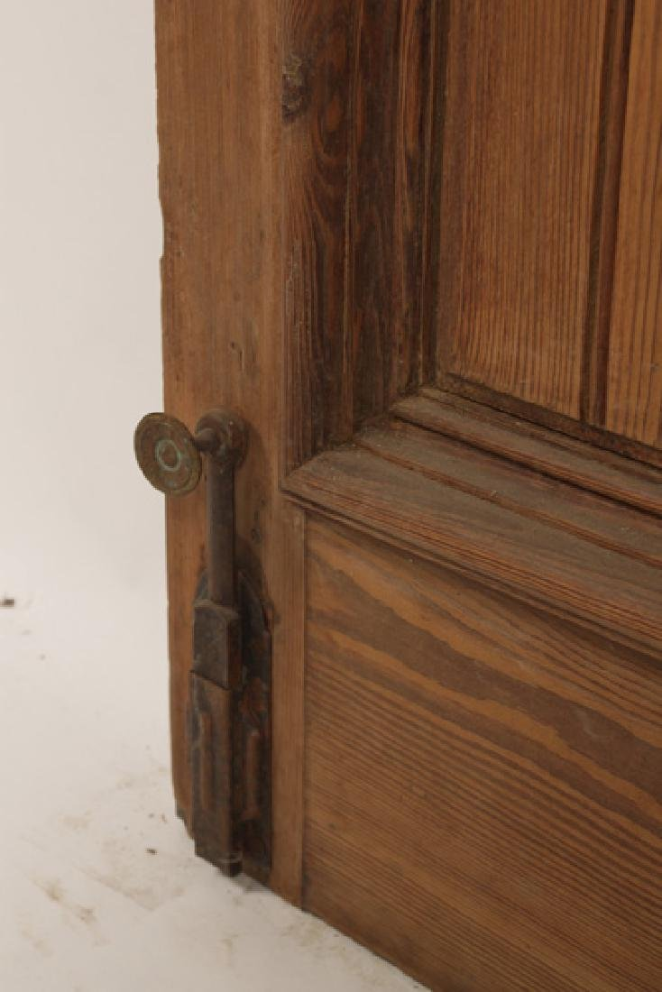 PAIR OF VICTORIAN CARVED ENTRY DOORS CIRCA 1890 - 4
