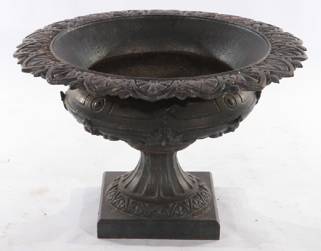 SIGNED FISKE CAST IRON GARDEN URN 1870
