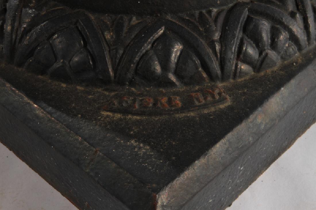 SIGNED FISKE CAST IRON GARDEN URN 1870 - 6