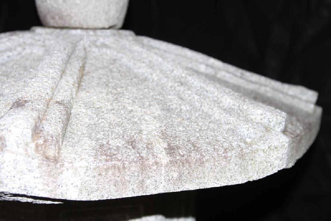 MONUMENTAL CARVED GRANITE GARDEN LANTERN - 3