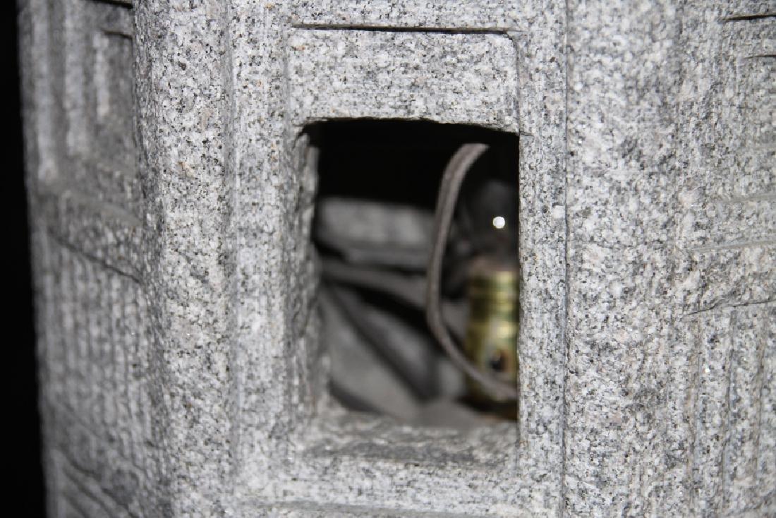 MONUMENTAL CARVED GRANITE GARDEN LANTERN - 5
