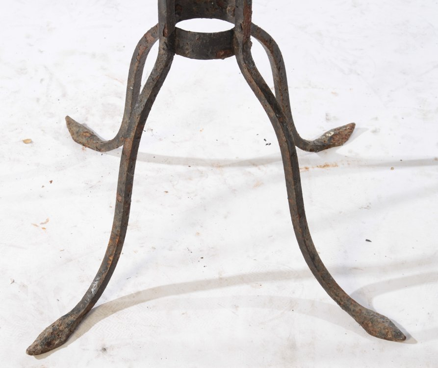 2 LARGE WROUGHT IRON PLANT STANDS CIRCA 1940 - 4