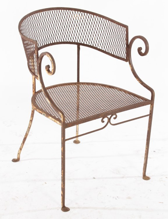 2 REGENCY STYLE GARDEN CHAIRS MATCHING TABLE 1940 - 4