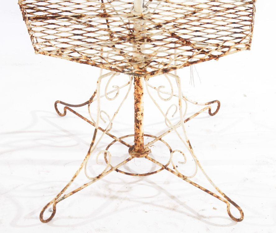 2 WROUGHT IRON PLANT STANDS CIRCA 1950 - 3