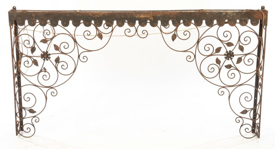 COLLECTION 4 WROUGHT IRON GARDEN ELEMENTS C.1940 - 2