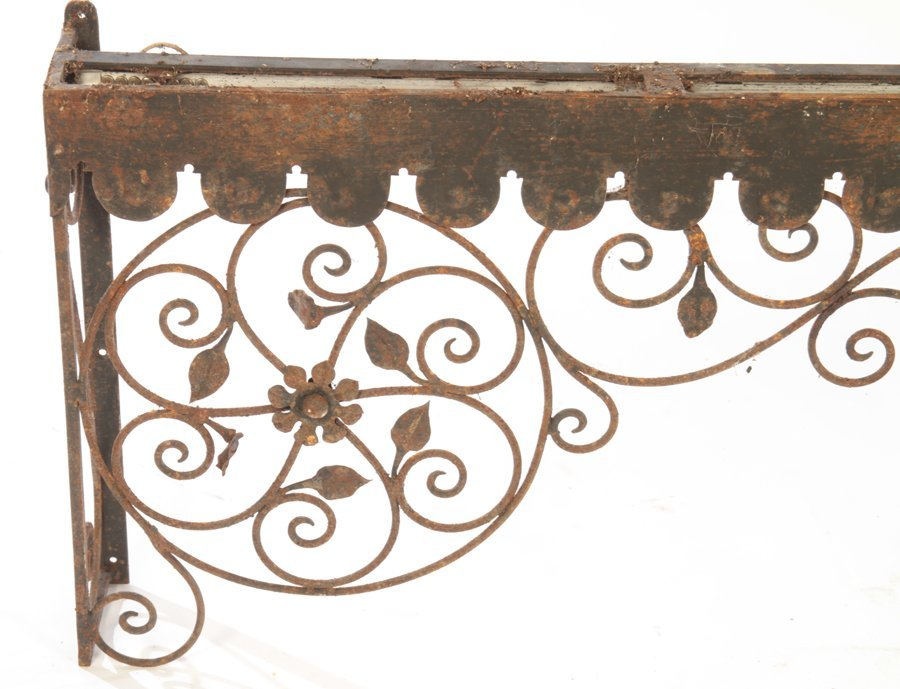 COLLECTION 4 WROUGHT IRON GARDEN ELEMENTS C.1940 - 6