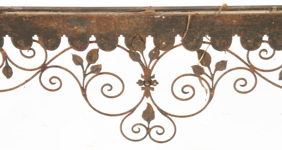 COLLECTION 4 WROUGHT IRON GARDEN ELEMENTS C.1940 - 7