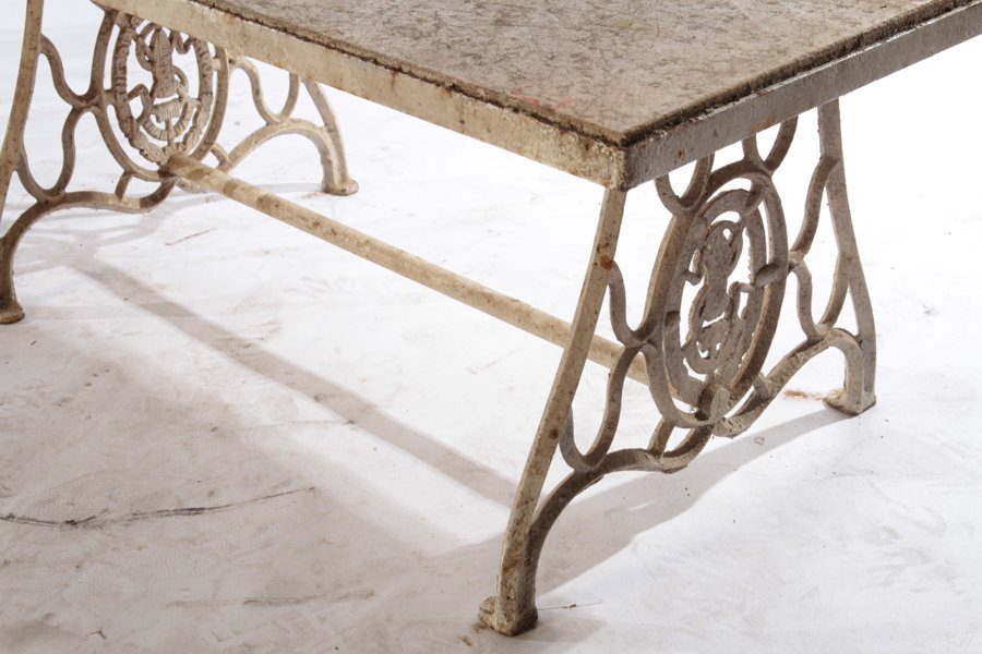 3 WROUGHT IRON AND CAST IRON GARDEN ITEMS 1910-40 - 7
