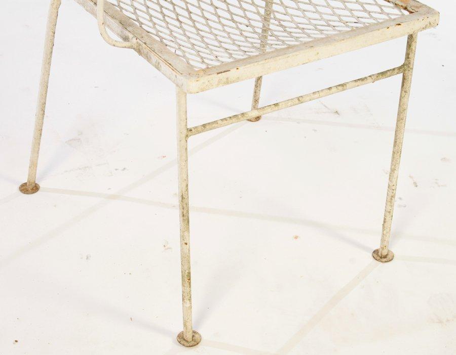 SALTERINI WROUGHT IRON TABLE 6 CHAIRS C.1940 - 6