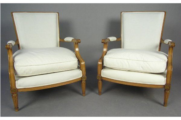 50181014: ELEGANT PAIR OF OPEN ARM CHAIRS CHAIR 1940.
