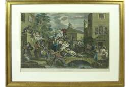19TH C AFTER WILLIAM HOGARTH 1697  1764 ENGRAVING