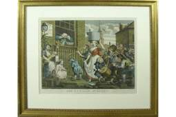 18TH C AFTER WILLIAM HOGARTH 1697  1764 ENGRAVING