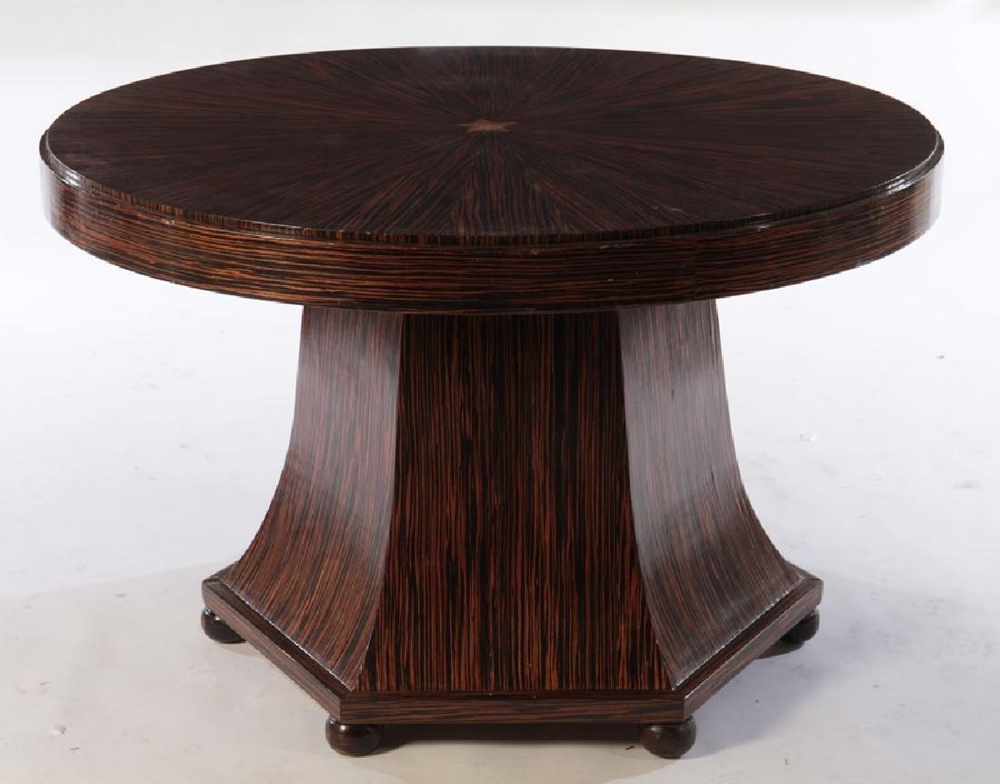 ART DECO MACASSAR CENTER TABLE ROUND TOP