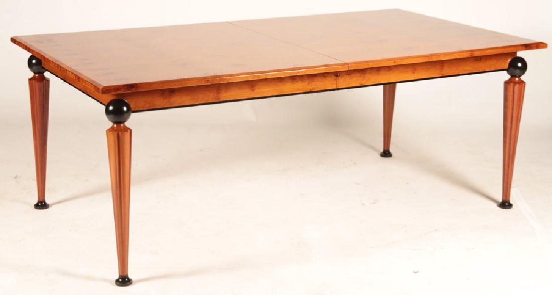 DINING TABLE WITH ART DECO INSPIRED INLAID TOP