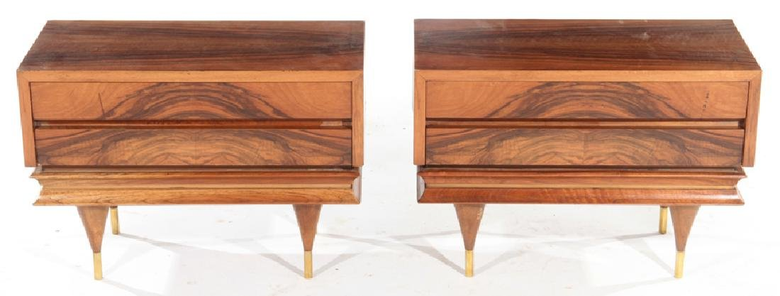 PAIR ROSEWOOD MID CENTURY MODERN SIDE TABLES 1960
