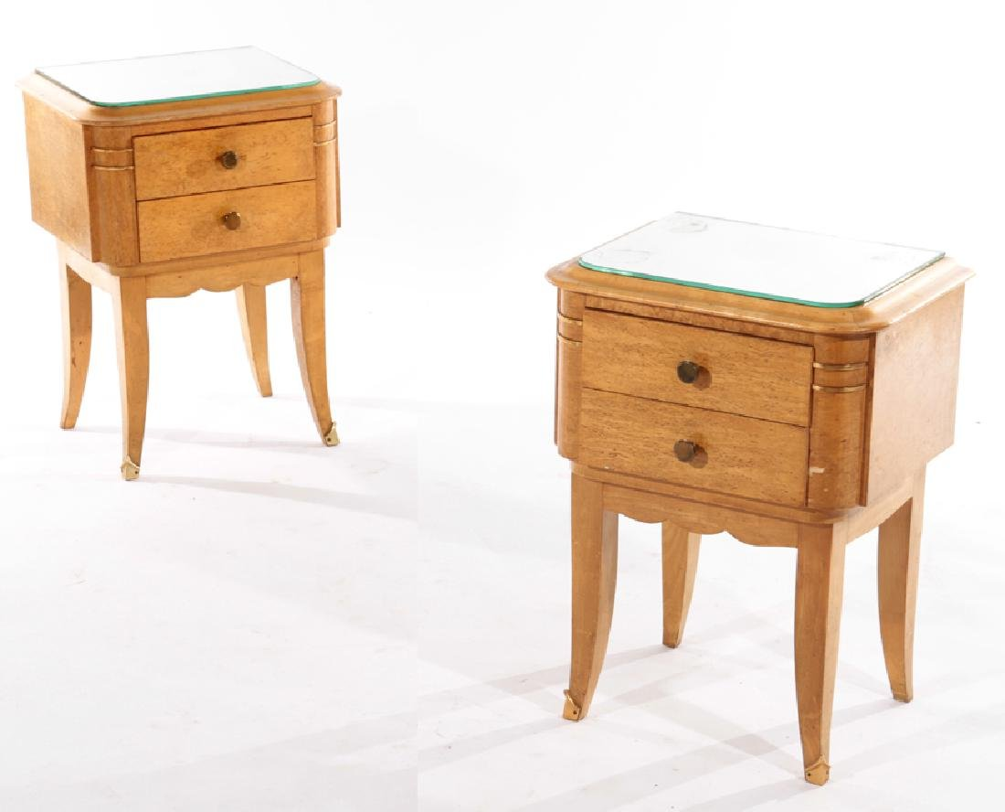 PAIR FRENCH MID CENTURY MODERN SIDE TABLES 1960