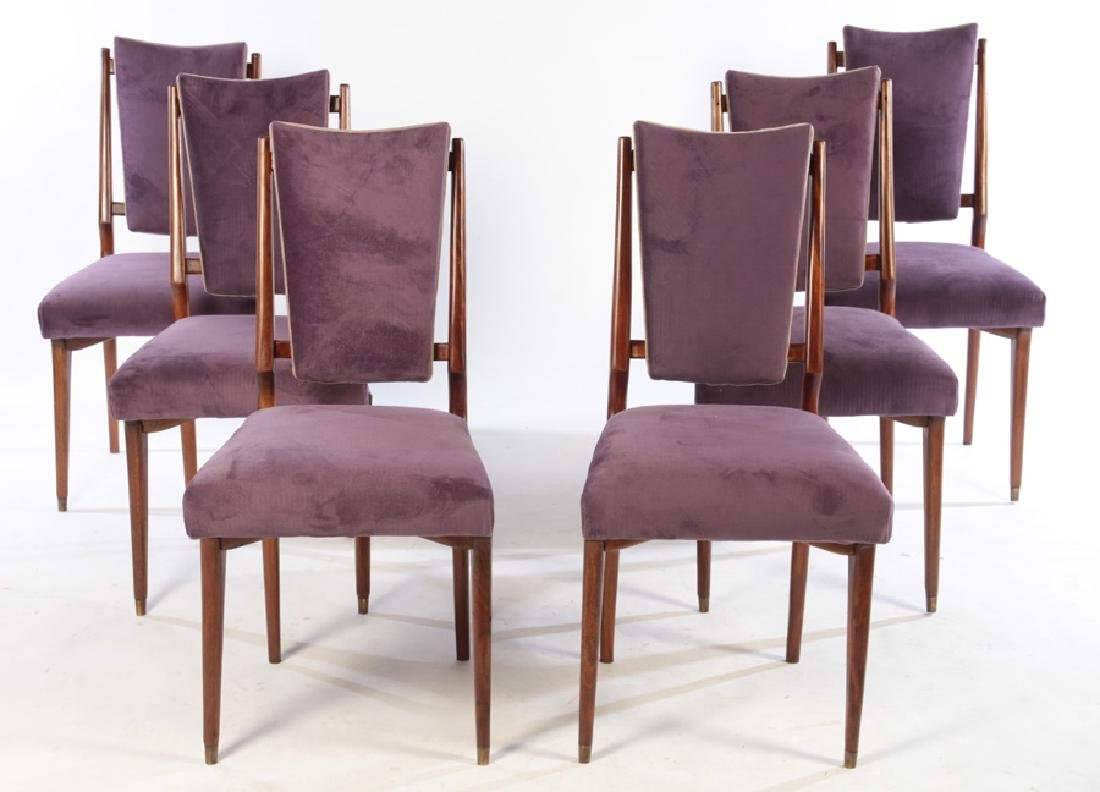 SET 6 MID CENTURY DINING CHAIRS UPHOLSTERED 1960