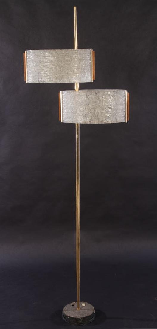 FRENCH MODERN FLOOR LAMP PLASTIC SHADES 1970