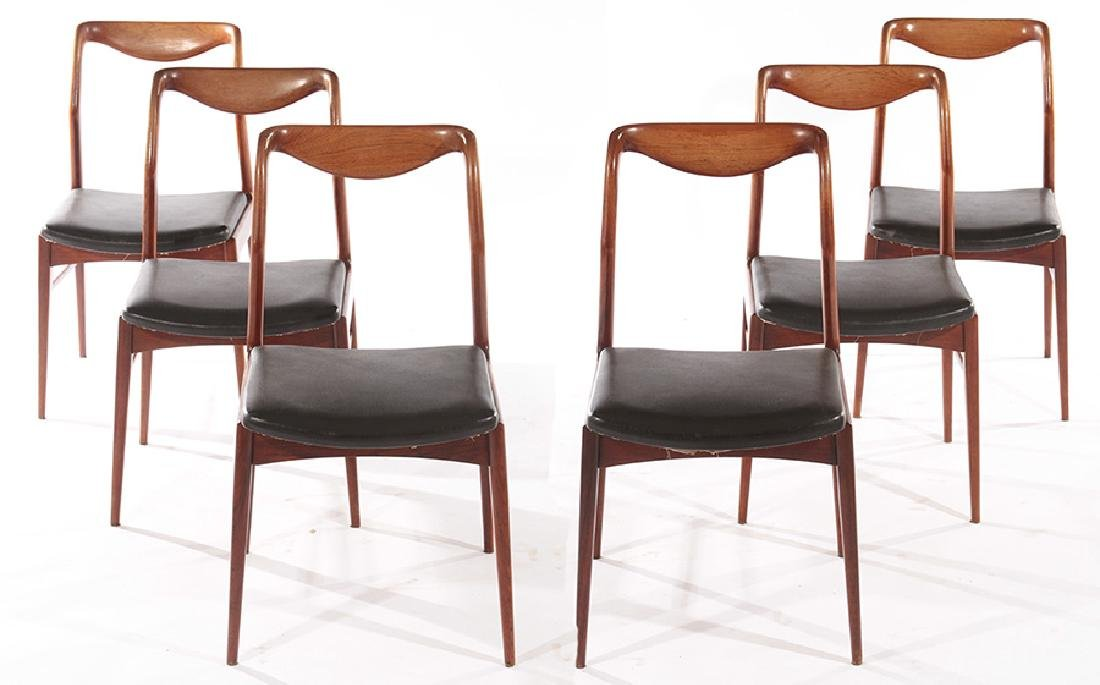 SET OF 6 ROSEWOOD DINING CHAIRS CIRCA 1960