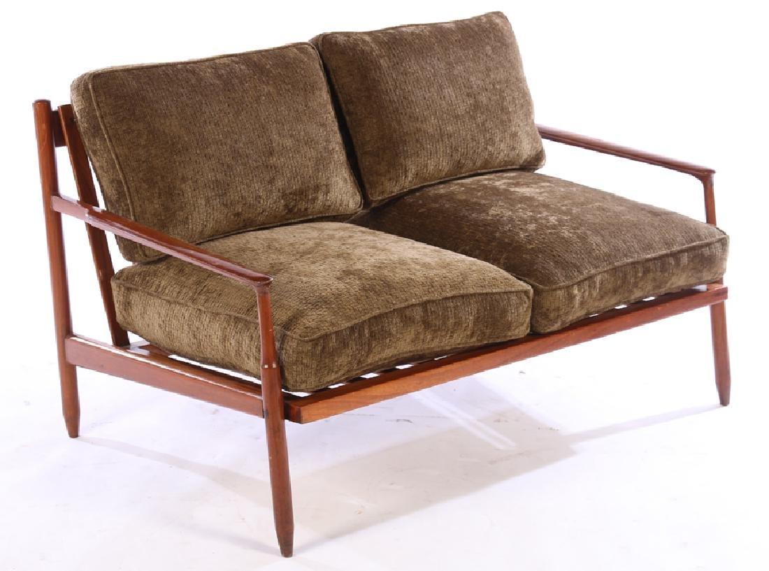 MODERN LOVESEAT LOWER CUSHION BACK & SEAT 1960