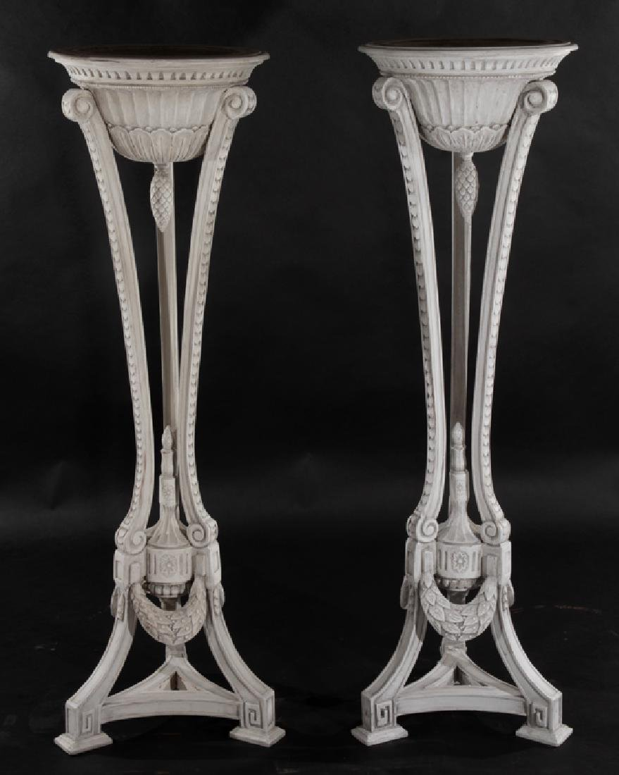 PAIR OF NEOCLASSICAL STYLE WOOD ANTHENIENNES